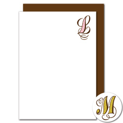 fancy initial stationery