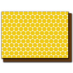 mustard polka dots card