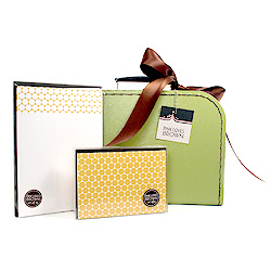 mustard polka dots suitcase set