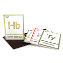 periodic table: assorted set of 6
