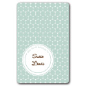 slate polka dots bookplates