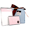 red polka dots suitcase set