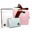 slate polka dots suitcase set