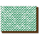 green zigzags card
