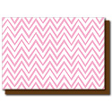 pink zigzags card