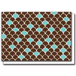 brown scallops card