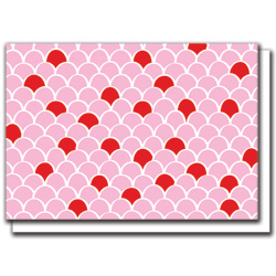 pink scallops card