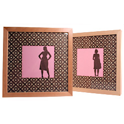framed silhouette prints