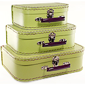 apple green paper suitcases