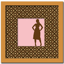 silhouette card 1 : pink loves brown