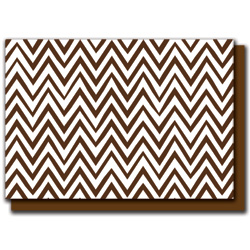 brown zigzags card