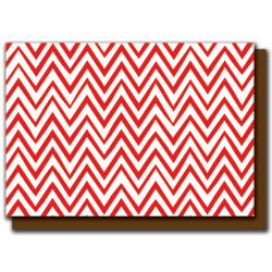 red zigzags card
