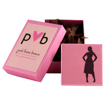 silhouette pin 1 : pink loves brown